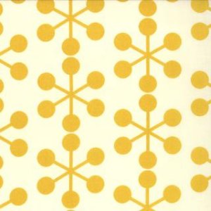 Zen Chic Comma Fabric - Asterisks - Chalk Mustard (1511 20)