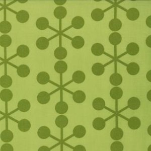 Zen Chic Comma Fabric - Asterisks - Lime (1511 22)