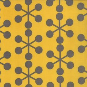 Zen Chic Comma Fabric - Asterisks - Mustard (1511 16)