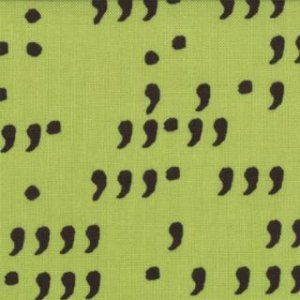 Zen Chic Comma Fabric - Commas - Lime Black (1514 14)