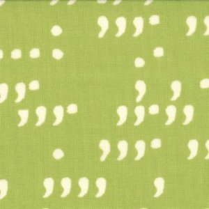 Zen Chic Comma Fabric - Commas - Lime Chalk (1514 19)