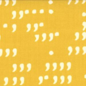 Zen Chic Comma Fabric - Commas - Mustard Chalk (1514 23)