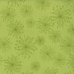 Zen Chic Comma Fabric - Nigella - Lime (1512 20)