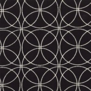 Zen Chic Comma Fabric - Swinging - Black (1513 16)