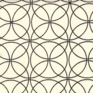 Zen Chic Comma Fabric - Swinging - Chalk Black (1513 11)