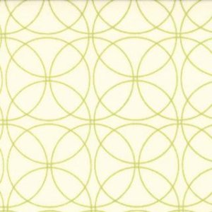 Zen Chic Comma Fabric - Swinging - Chalk Lime (1513 13)