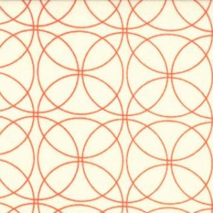 Zen Chic Comma Fabric - Swinging - Chalk Tangerine (1513 14)