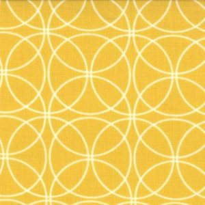 Zen Chic Comma Fabric - Swinging - Mustard (1513 20)