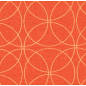 Zen Chic Comma Fabric - Swinging - Tangerine (1513 26)