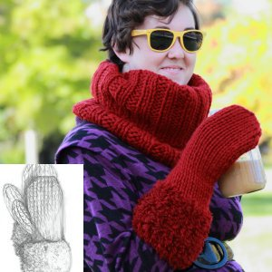 Erika Knight Patterns - Fur Cuff Mitts Pattern