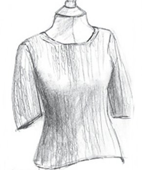 Erika Knight Patterns - Simple Short Sleeve Sweater Pattern