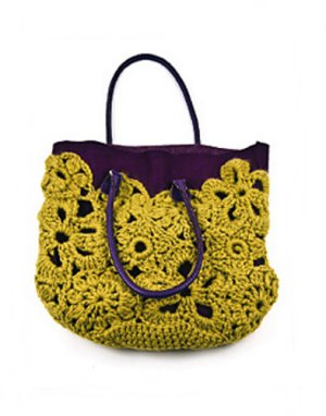 Erika Knight Patterns - Crochet Lace Bag Pattern