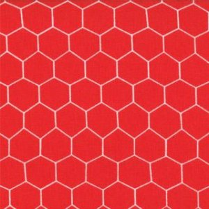 Jenn Ski Oink-A-Doodle-Moo Fabric - Chicken Wire - Barn Red (30527 12)