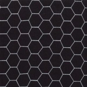 Jenn Ski Oink-A-Doodle-Moo Fabric - Chicken Wire - Black (30527 22)