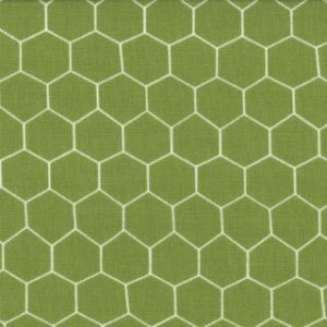 Jenn Ski Oink-A-Doodle-Moo Fabric - Chicken Wire - Grass (30527 13)