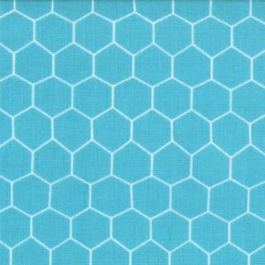 Jenn Ski Oink-A-Doodle-Moo Fabric - Chicken Wire - Turquoise (30527 16)