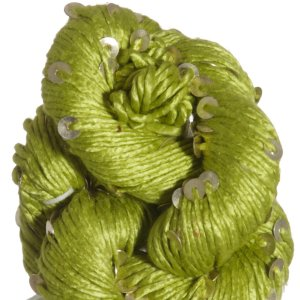 Knit Collage Stargazer Silk & Sequins 2nd Quality Yarn - Short - Chartreuse