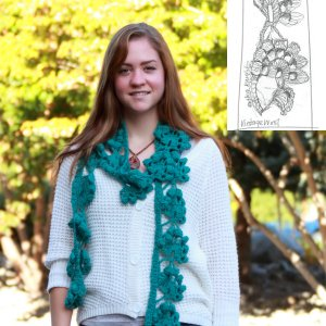 Erika Knight Patterns - Edgy Crochet Scarf Pattern