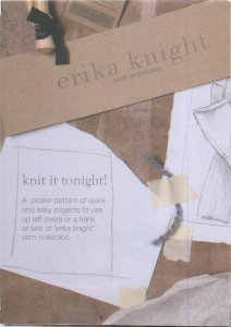 Erika Knight Patterns - Poster Pattern #1: Knit It Tonight Pattern