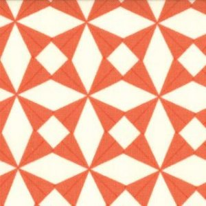 Julie Comstock 2wenty Thr3e Fabric - Fox Trot - Clementine (37057 25)
