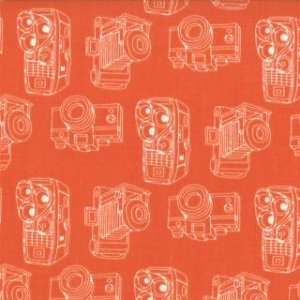 Julie Comstock 2wenty Thr3e Fabric - Kodachrome - Clementine (37054 25)