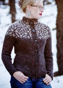 Tahki Stacy Charles Donegal Tweed Sky Isle Cardigan Kit - Women's Cardigans