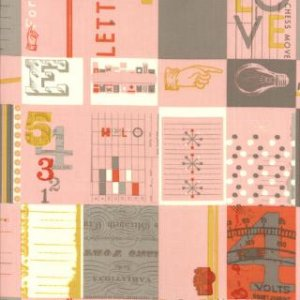 Julie Comstock 2wenty Thr3e Fabric - Love Letters - Petal (37050 12)