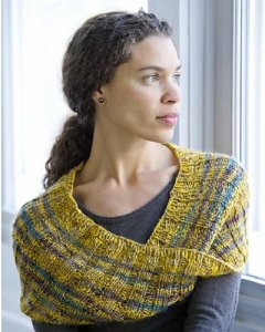 Artyarns Rhapsody Glitter Light Striped Mobius Kit - Scarf and Shawls