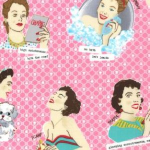 Mary Jane Glamping Fabric - Glamour Girls - Shasta Pink (11600 12)