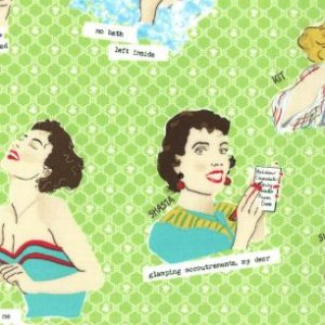 Mary Jane Glamping Fabric - Glamour Girls - Spring Green (11600 13)