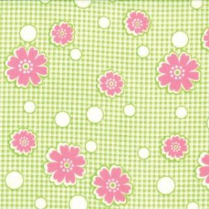 Mary Jane Glamping Fabric - Off the Grid - Spring Green (11606 13)