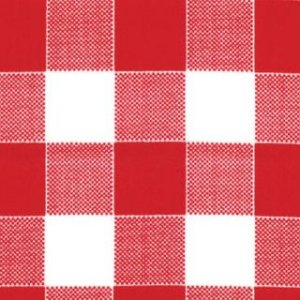 Mary Jane Glamping Fabric - Picnic Check - Barn Red (11607 17)