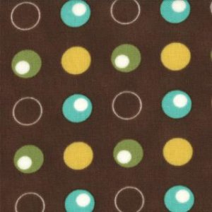 Mary Jane Glamping Fabric - Polka Dance - Dark Chocolate (11603 15)