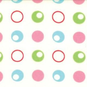 Mary Jane Glamping Fabric - Polka Dance - Old Lace Shasta Pink (11603 11)