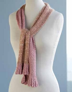 Artyarns Regal Silk and Beaded Mohair & Sequins Exotic Draped Ruffle Kit - Scarf and Shawls