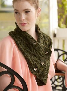 Rowan Purelife Renew Green at Heart Collar Kit - Scarf and Shawls