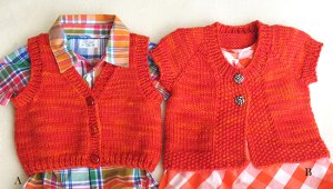 Knitting Pure and Simple Baby & Children Patterns - 1301 -  Baby Vests Pattern