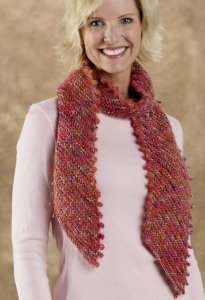 Trendsetter Dune & Zoe Diagonal Picot Scarf Kit - Scarf and Shawls