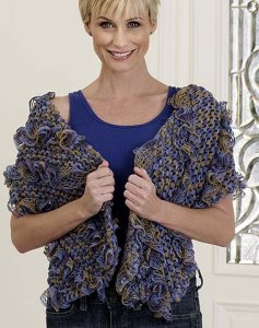 Trendsetter Flamenco Diagonal Self Ruffled Wrap Kit - Scarf and Shawls