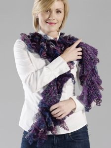 Trendsetter Dune & Flamenco Ruffled Scarf Kit - Scarf and Shawls