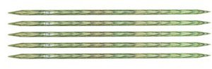 "Knitter's Pride Dreamz Double Point Needles - US 9 - 5"" (5.5mm) Misty Green Needles"