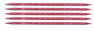 "Knitter's Pride Dreamz Double Point Needles - US 10 - 5"" (6.0mm) Candy Pink Needles"