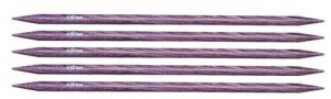 "Knitter's Pride Dreamz Double Point Needles - US 10.5 - 5"" (6.5mm) Purple Passion Needles"