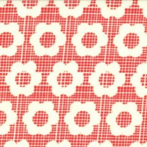 Urban Chiks Boho Fabric - Flower Child - Scarlet (31092 11)