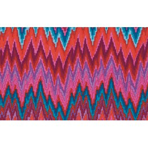 Kaffe Fassett Flame Stripe Fabric - Red
