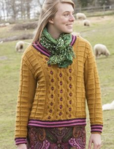 Classic Elite Yarn Color by Kristen Ginger Pullover Kit - Women's Pullovers
