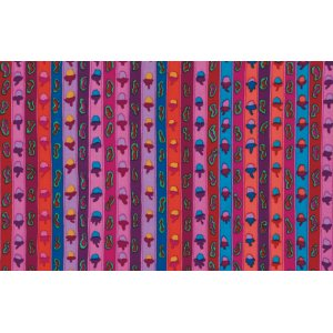 Kaffe Fassett Ribbon Stripe Fabric - Red