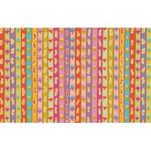 Kaffe Fassett Ribbon Stripe Fabric - Yellow