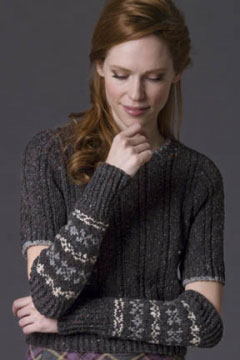 Tahki Stacy Charles Tara Tweed Musk Armwarmers Kit - Hats and Gloves