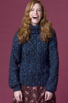Tahki Stacy Charles Jackson Spruce Cabled Turtleneck Kit - Women's Pullovers